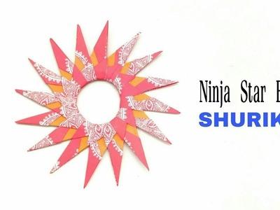 16 pointed Ninja Star Blade Shuriken - DIY Origami Tutorial - 866