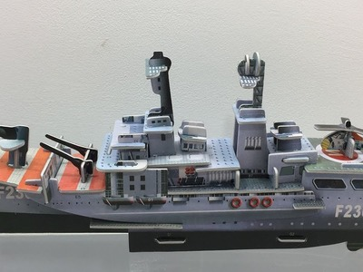3D Super Puzzle DIY, How to Assembly the HMS Norfolk F230