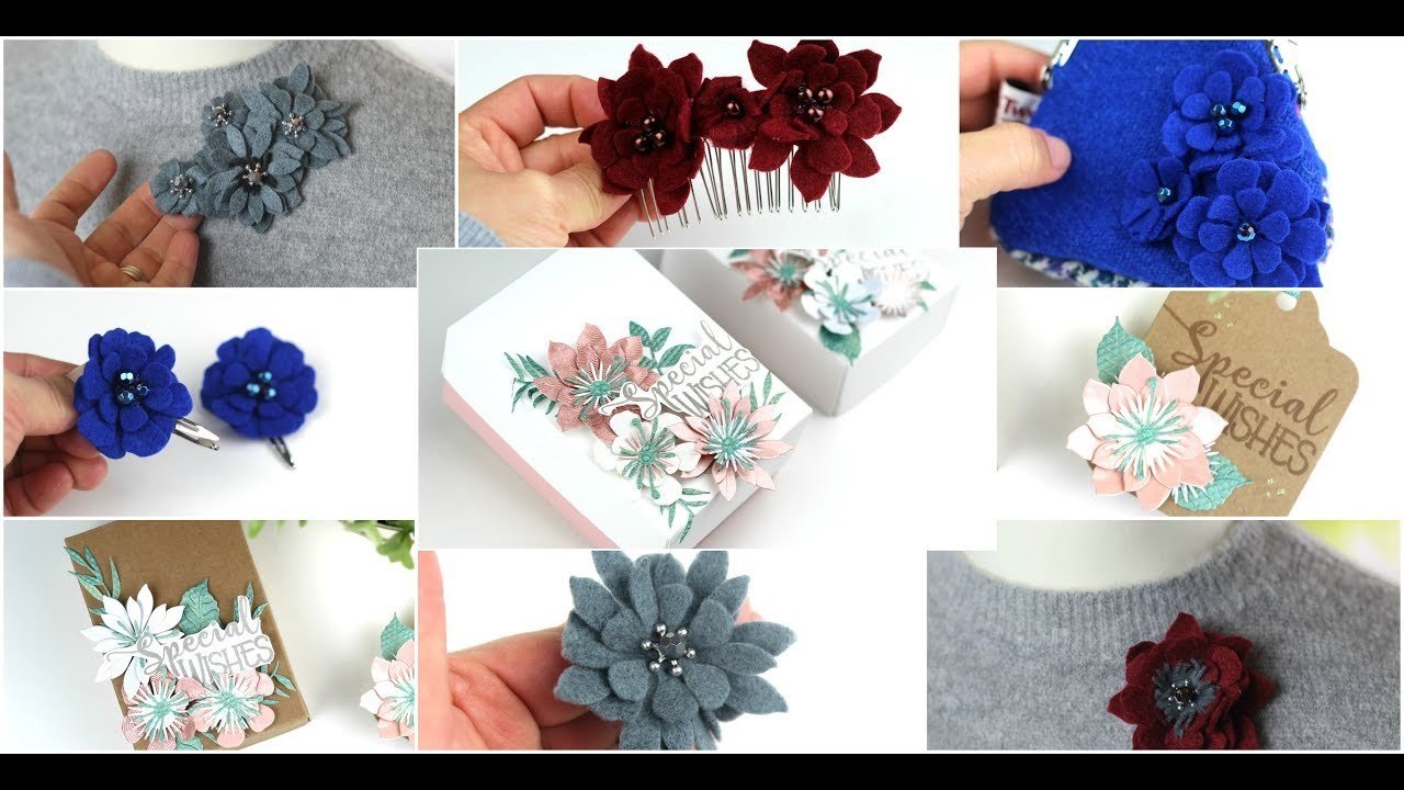 9 easy ideas with floral dies  ( Tonic Craft kit 5)