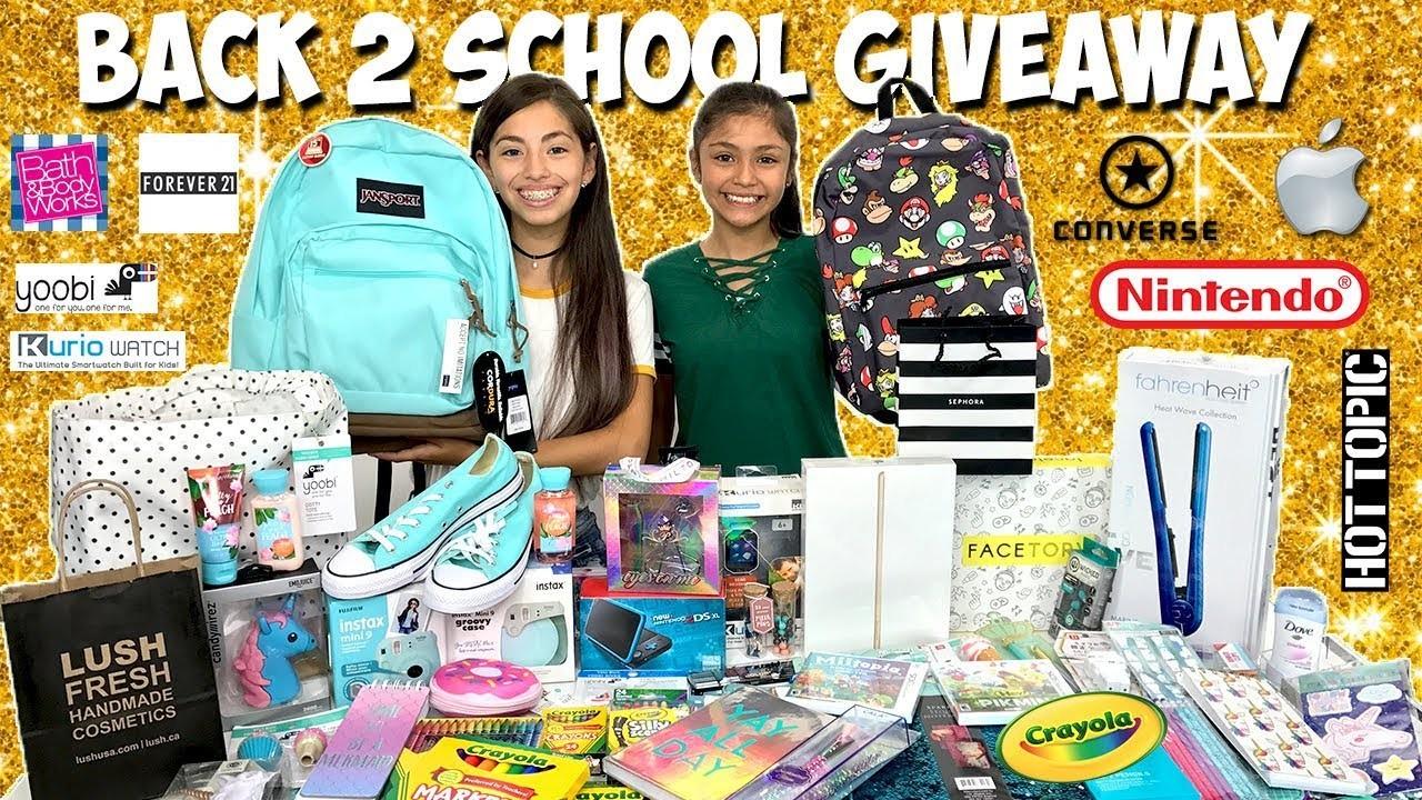 Back to School Giveaway 2017-2018  iPad Sephora Lush Nintendo