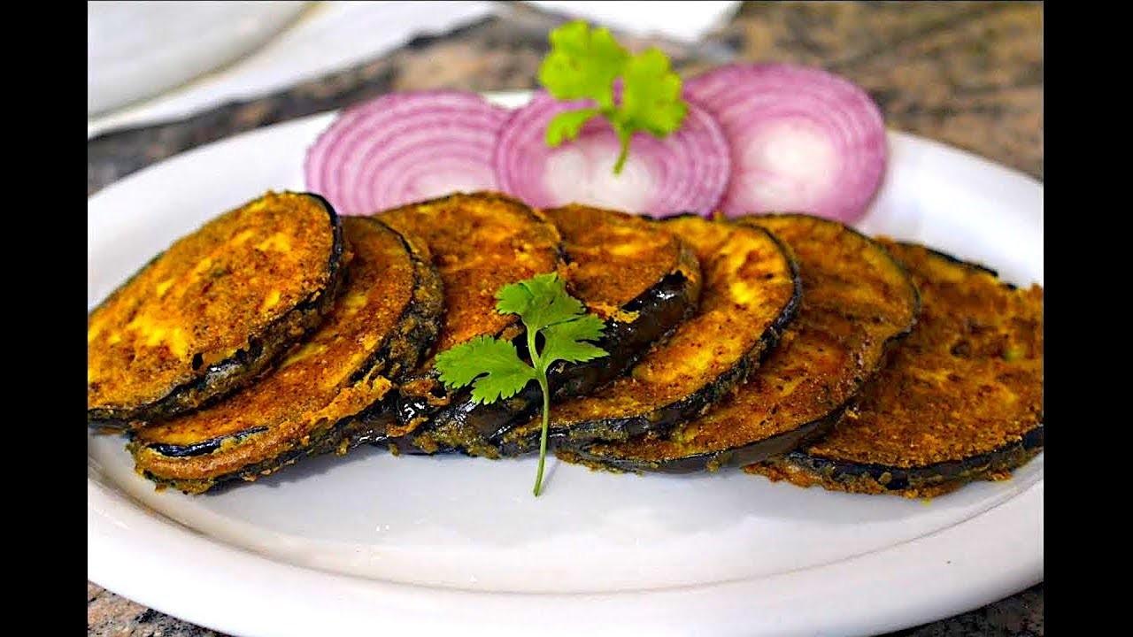 Baingan Fry Recipe | Pan Fry Eggplant Recipe | Pan Frying Brinjal | Aubergine Vegan Recipe
