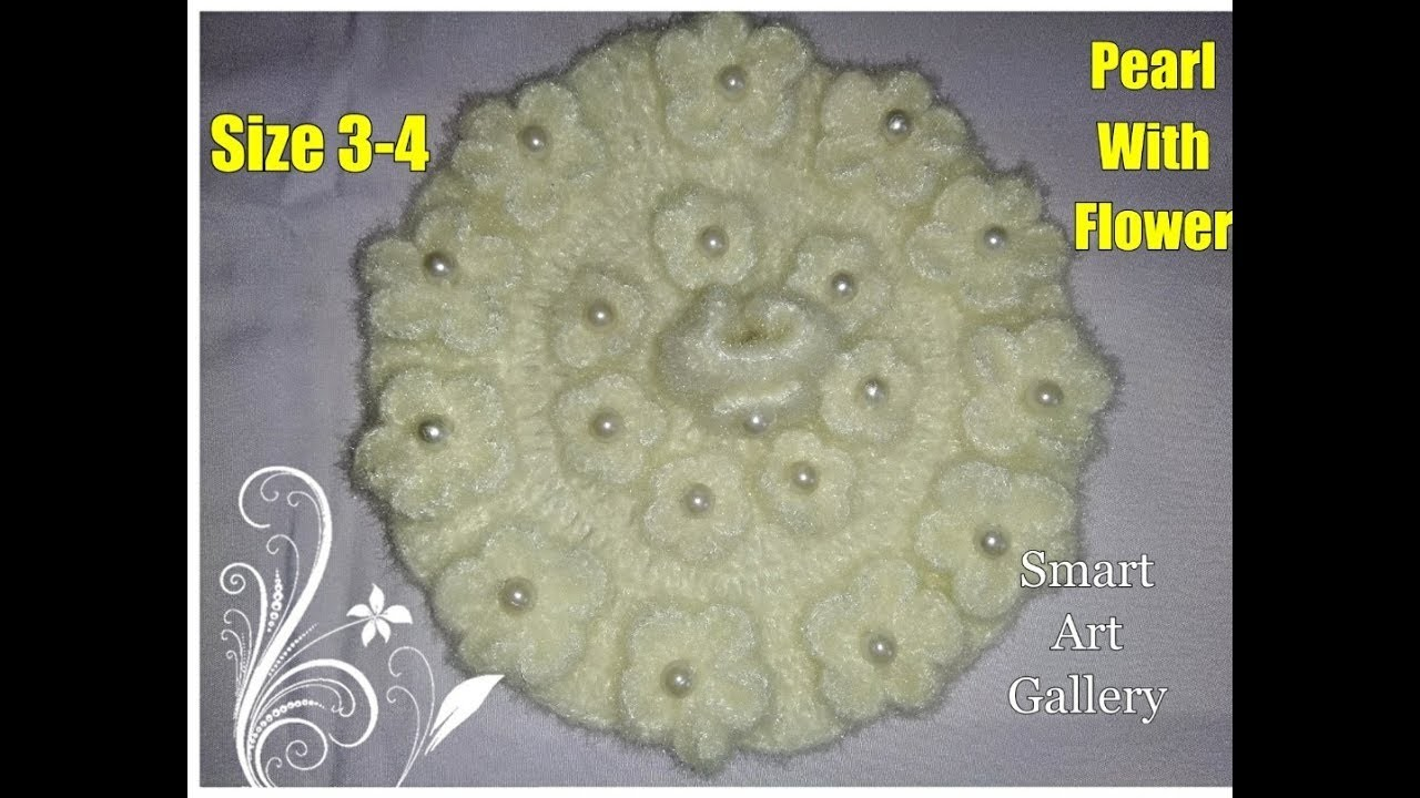 Beautiful pearl flower off white dress for three number Laddu gopal Ji