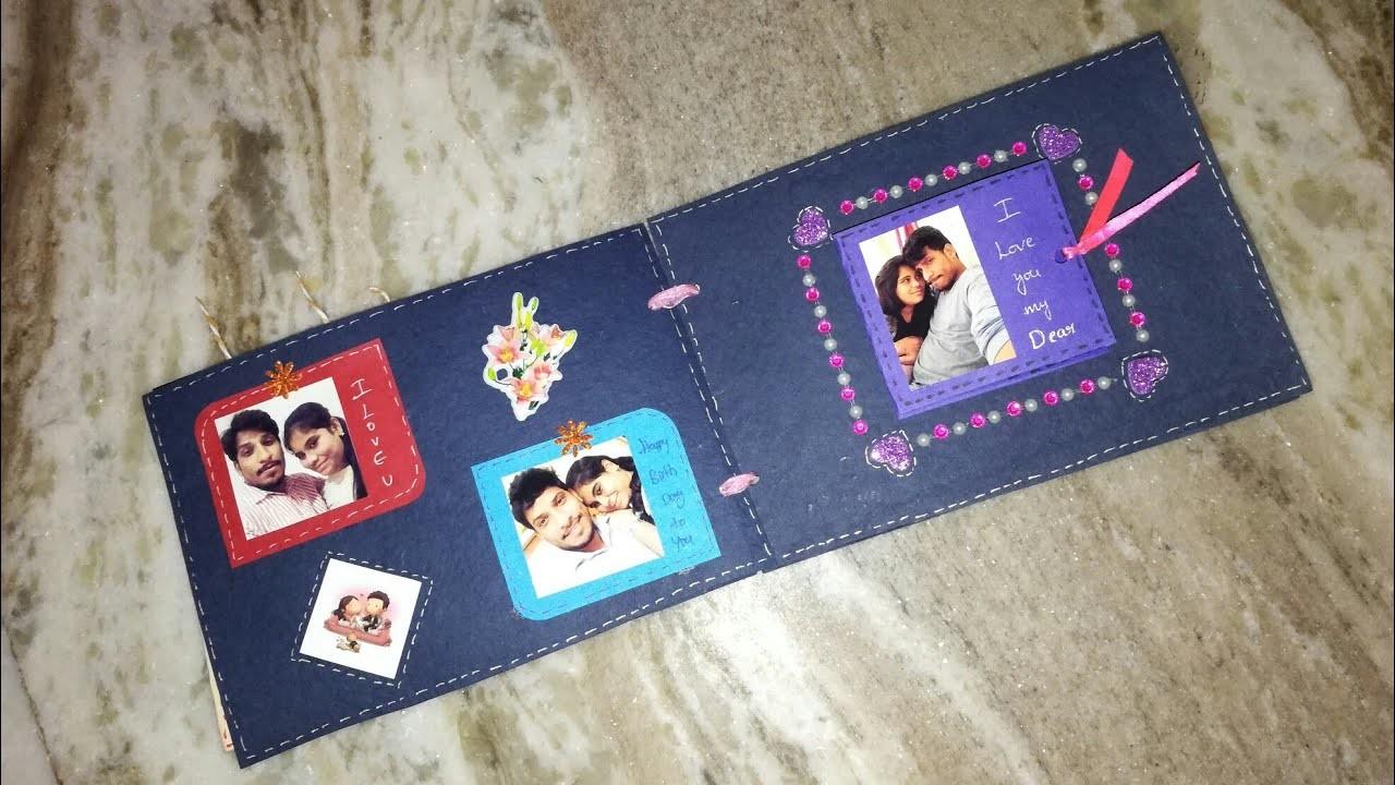 Birthday scrapbook for husband | best scrapbook ideas