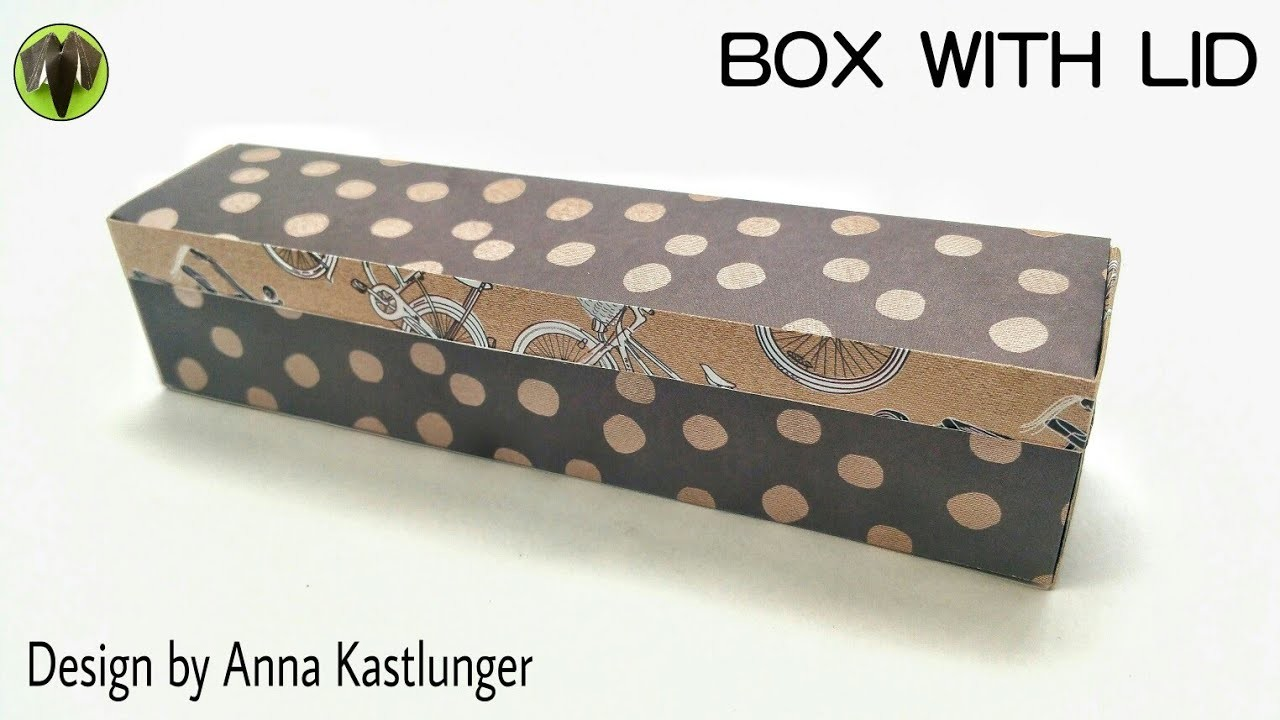 Box with Lid by Anna Kastlunger - Origami DIY Tutorial - 865