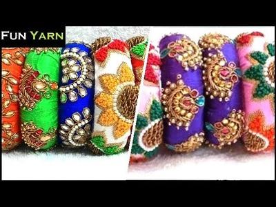 Bridal Aari Work Designer Bangles Collection | Maggam Work Designer Bangles Collection | Funyarn