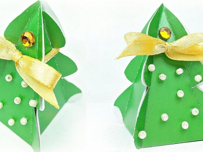 Christmas tree gift box ideas Easy DIY arts and crafts handmade Tutorial