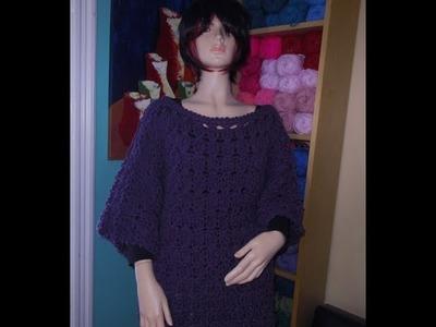 Como tejer abrigo o blusa mangas 3.4