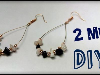 DIY Earrings Tutorial. Sea glass Stone Earring Making