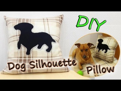 DIY Easy Dog Silhouette Pillow - How To Sew Reverse Applique Dog Pillow Cover - Simple Tutorial