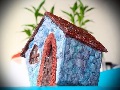 Diy Fairy House making with home made paper clay