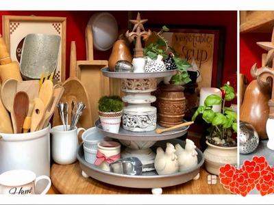 ~DIY~ Farmhouse Galvanized 3 Tiered Stand