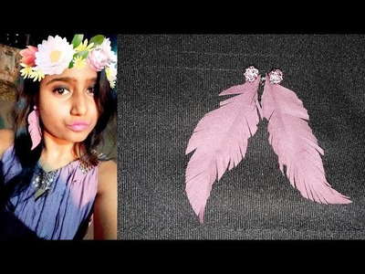 DIY : feather earrings. how to make feather earrings