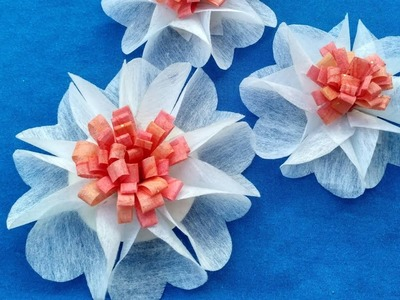 DIY How to decoration flowers for Christmas gifts   Tutorial