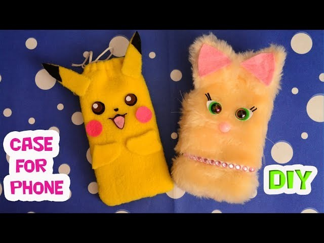 DIY.How to make easy mobile phone case.Tutorial & crafts.Hand made.My creative ideas.
