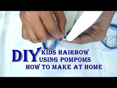 DIY  How to make silkthread kids Hairband using PomPoms at home  Grand unique ideas