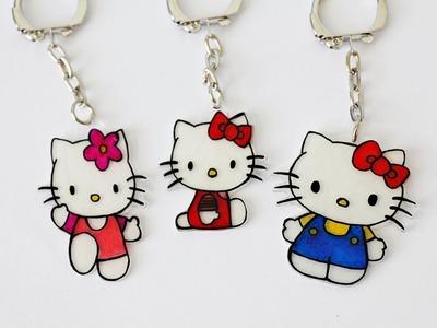 DIY 악세사리 (헬로키티 만들기)  シュリンクプラスチックチャーム.キーホルダー DIY accessories (Hello Kitty Charms) by My little birds