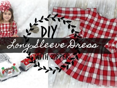 DIY  Long Sleeved Dress with Zipper