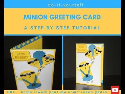 DIY Minion Greeting Card Tutorial | Minion Birthday Card | Step By Step by Neet's Creations