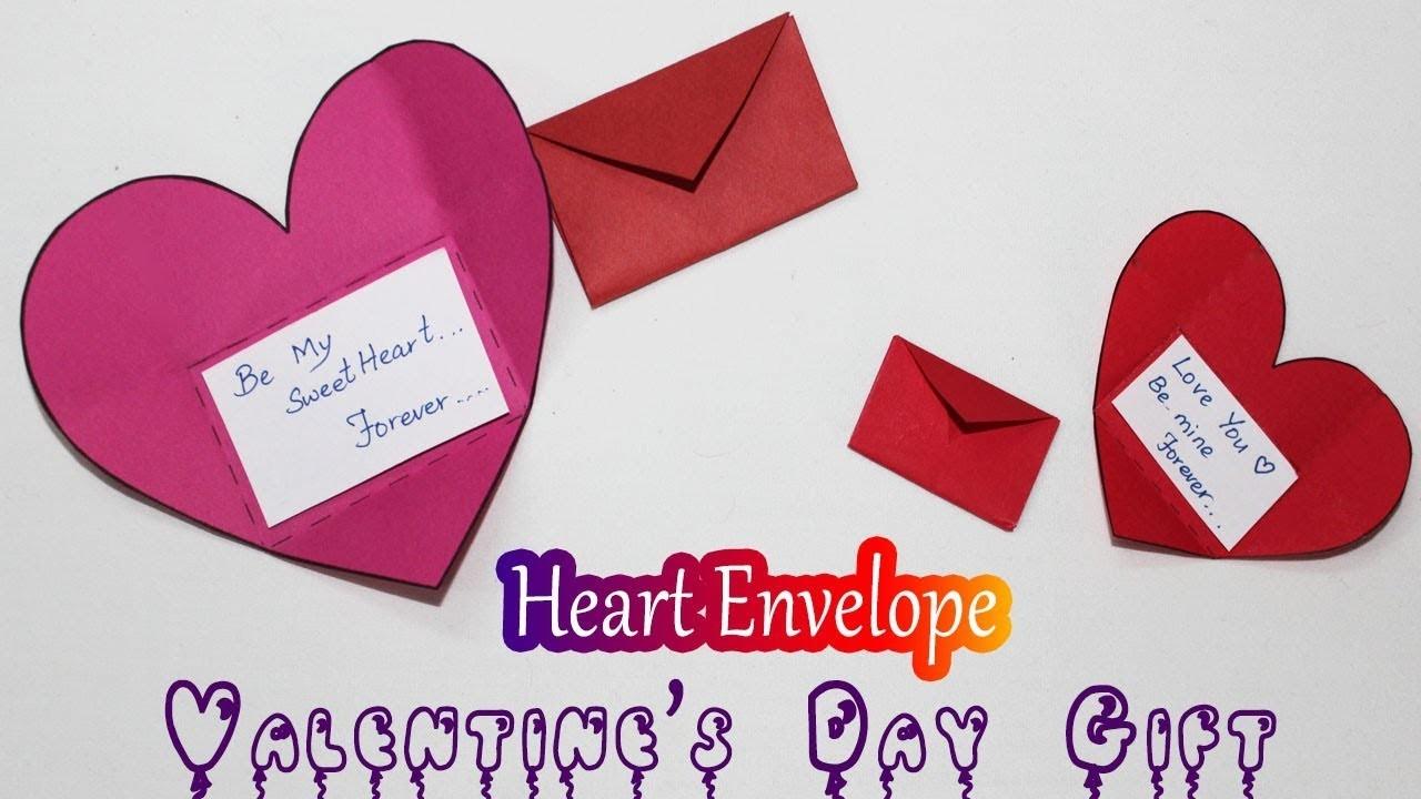 Diy Origami Heart Envelope Valentines Day Gift For Boyfriend