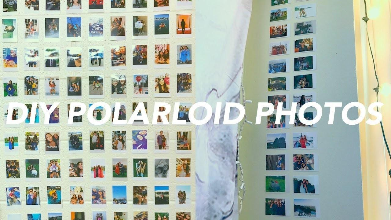 diy polaroid photos without a polaroid camera diy tumblr dorm room