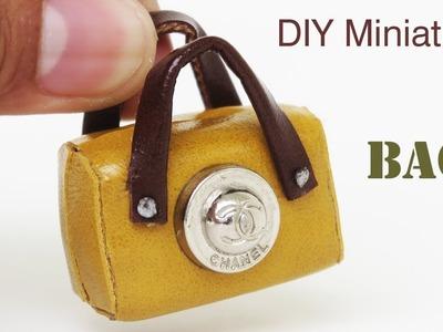 DIY  Realistic miniature CHANEL Bag 2018 -  Miniature crafts ideas