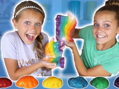 DIY SLIME! DIY BEST Rainbow Slime Recipe! How To Make Slime!! | Marissa and Brookie