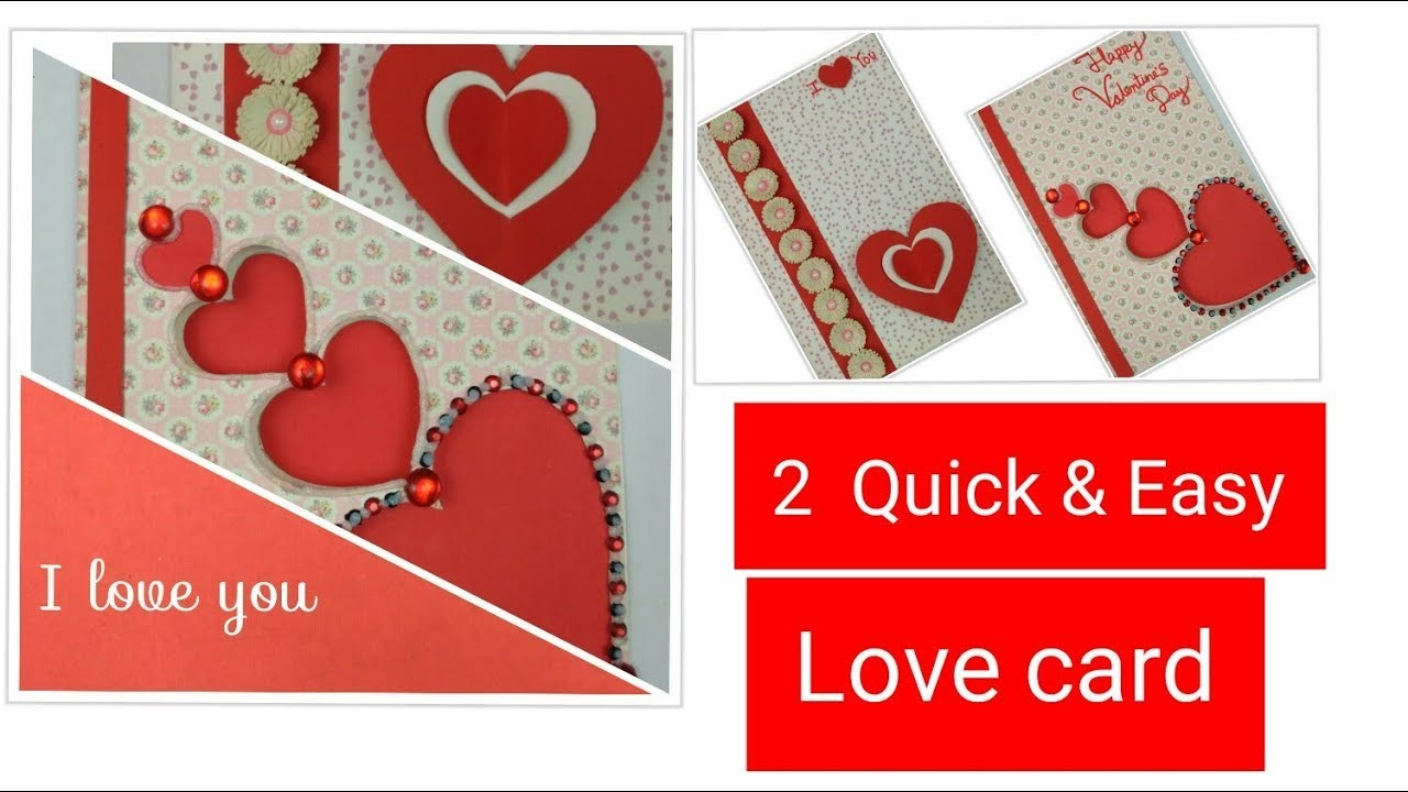 Diy Valentine Cards Handmade Greeting Cards For Boyfriend How To