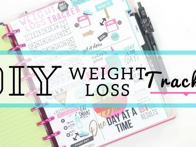 DIY Weight Loss Tracker ????‍♀️〰️ In Depth How To | Fitness Planner| At Home With Quita