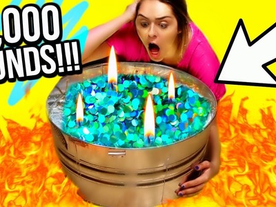 DIY WORLDS BIGGEST HOLOGRAPHIC CANDLE!! 10,000 POUNDS!!!  MASSIVE DIY CANDLE!!  #ad