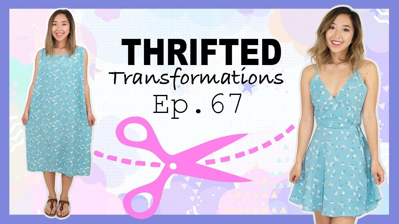 DIY Wrap Dress   Thrifted Transformations Ep. 67