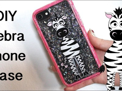DIY Zebra Nail Art On Your Phone Case Gel Nail Art Tutorial