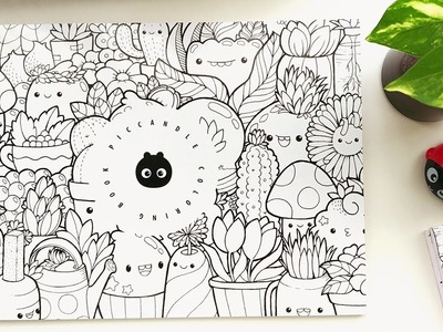 Doodle Coloring Book | Kawaii Coloring Pages [Inktober Doodles]