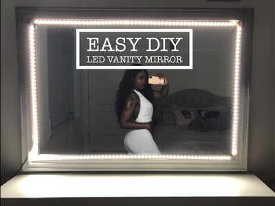 EASY DIY: LED LIGHT UP VANITY MIRROR WITH REMOTE   TUTORIAL BY @YANAGLO