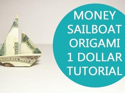 Easy Money Sailboat Origami Dollar Tutorial DIY Folded No glue