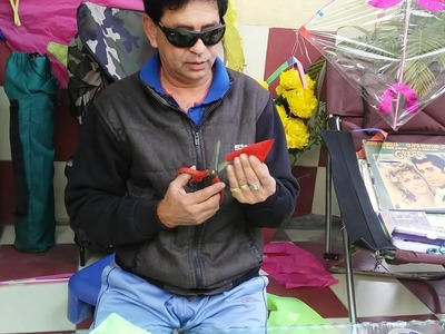 Folding Fabric Kite for kids in My ART and CRAFT programme for children's by Somen ghosh