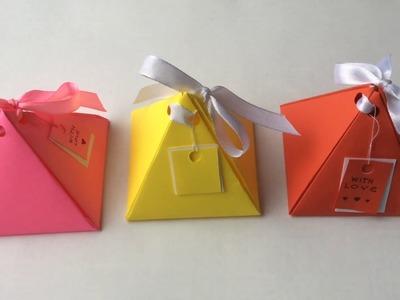 Gift box DIY. Origami box. Paper craft.