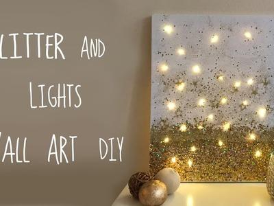 Glitter, Dewdrop Lights and Stars Wall Art DIY