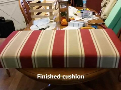 How to Cover a Cushion