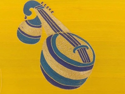 How to do a Veena Design using Embroidery