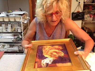 How to frame a pastel painting by Tracy Haines