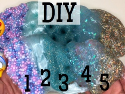 HOW TO MAKE 5 EASY SLIMES WITH GEL GLUE