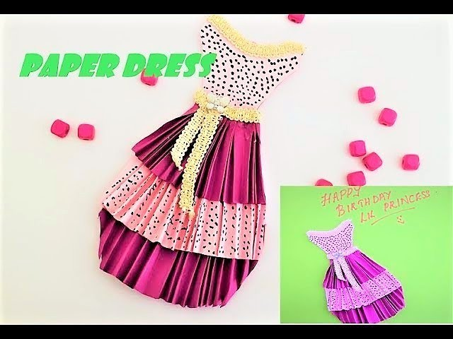 How to make a gorgeous paper dress-Easy DIY craft