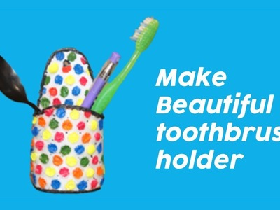 How to make Beautiful Toothbrush, Spoons holder with Diy art , It is made by a shampoo bottle.
