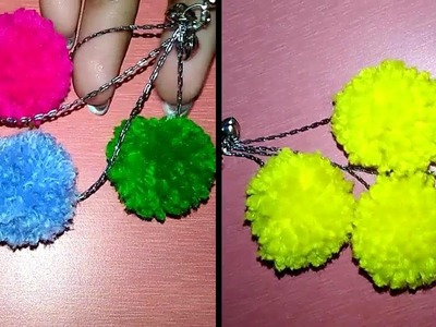 How to Make Earrings at Home With Pompom