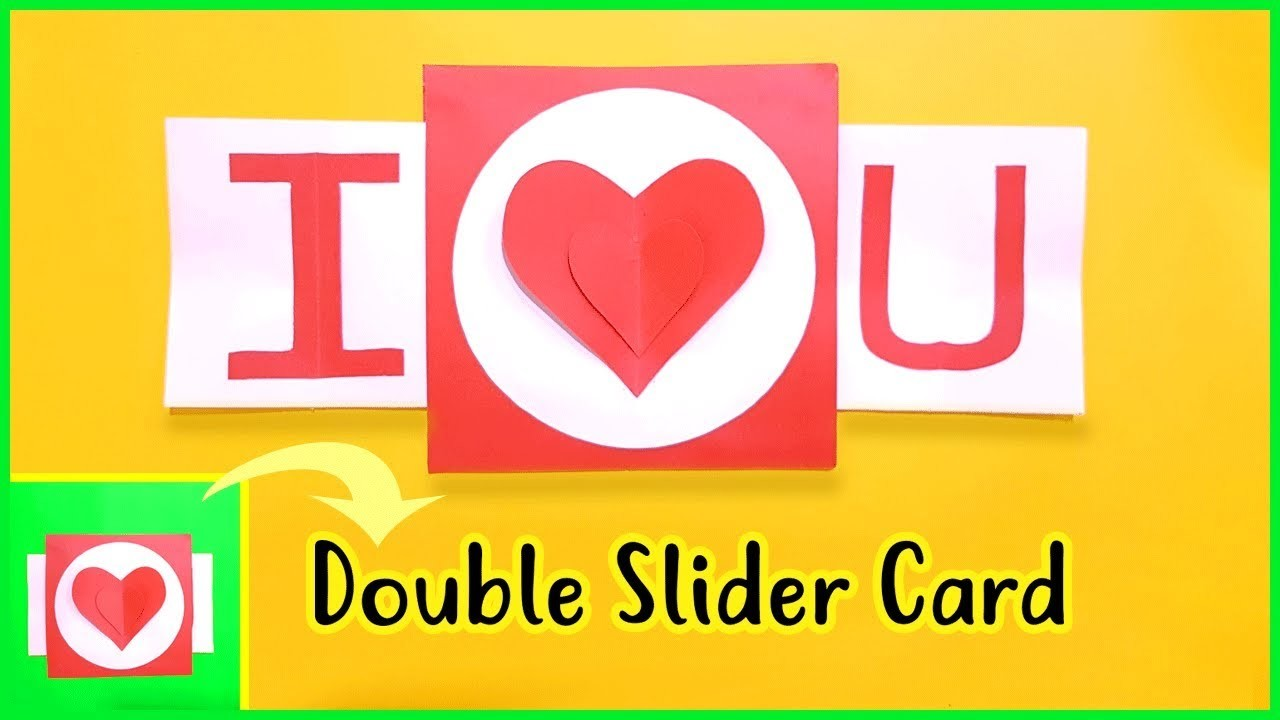 How to make I Love You Card (Double Slider) | Valentine's Day Card Ideas