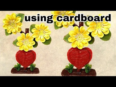 How to make love shape flower show piece
