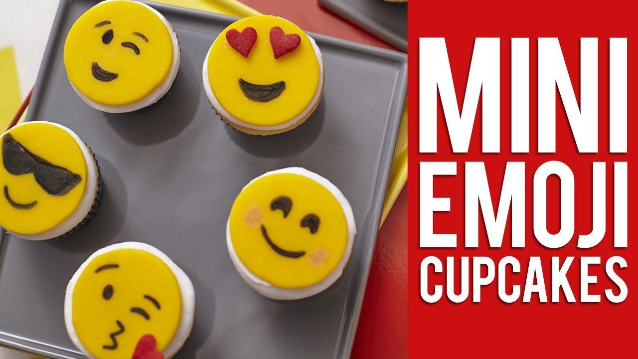 How to Make Mini Emoji Cupcakes