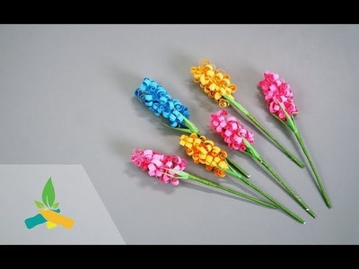How to make paper flower hyacinth   DIY Tutorial