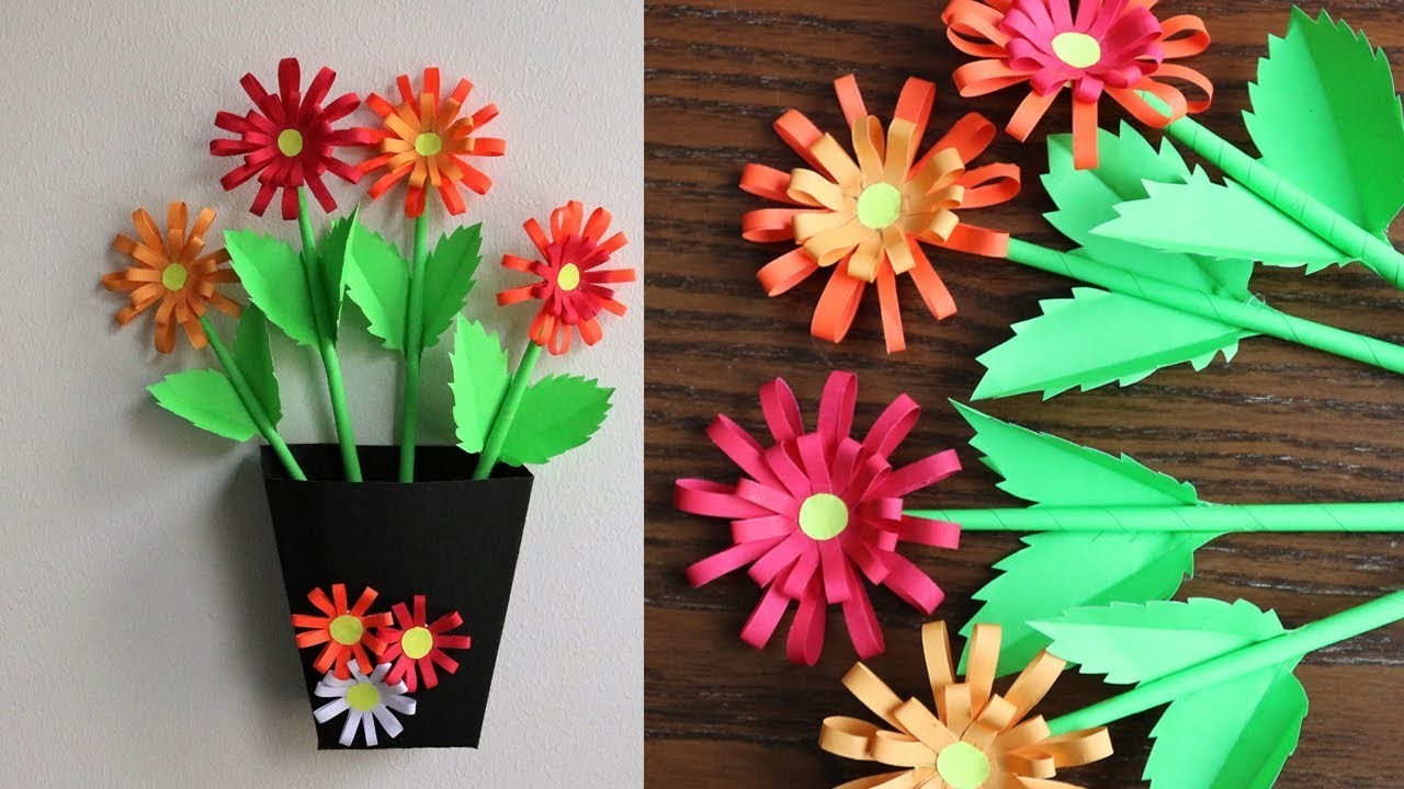 How To Make Paper Flowers Diy Home Decoration Idea Paper Craft