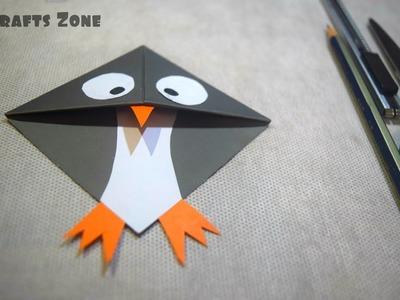 How to Make Penguin Bookmarks corner। DIY: Penguin Bookmarks Corner। Paper Penguin Bookmarks Corner